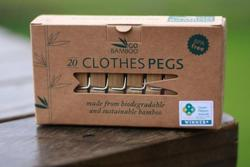 Cleaning & Laundry: Go Bamboo - Clothes Pegs (20 per pack)