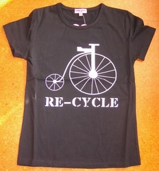 T-Shirts: Re-Cycle T-Shirt (Black)