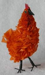 Recycled Art: Recycled Plastic Chick - Orange