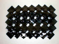 Recycled Glass: Basket - Black Dropdown
