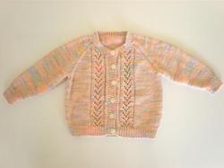 Knitwear - Bamboo: 100% Bamboo Cardigan Pastel Lace Middle