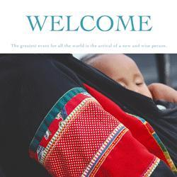 Greeting Cards: Welcome Card for a New Born
