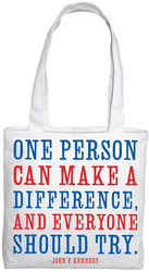 Quotable Bags: Make a Difference Tote Bag