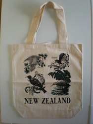 Kiwiana Carry Bags: Carry Bag with New Zealand Native Birds