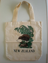 Kiwiana Carry Bags: Carry Bag with New Zealand Brown Kiwi