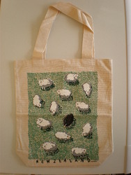 Kiwiana Carry Bags: Carry Bag with New Zealand Sheep