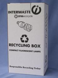 Recycling & Waste Minimisation: Compact Fluorescent Lamp (CFLD) - Domestic Box