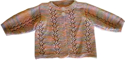 Knitwear - Bamboo: 100% Bamboo Baby Cardigan - Pastel (3 - 6 Months)