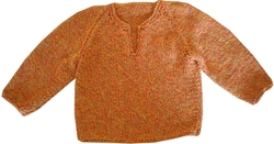 Knitwear - Recycled Cotton: 75% Recycled Cotton - Orange Jumper